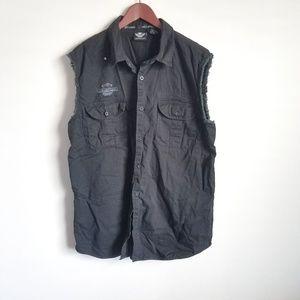Harley-Davidson Black Logo Muscle Shirt size XL